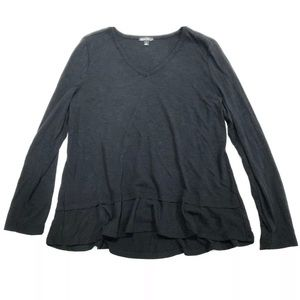 J. Crew Mercantile Black Long Sleeve Shirt
